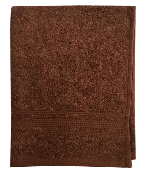 Lushomes Brown Super Soft and Fluffy Cotton Hand Towel Set (Size: 40 x 60 cms, Pack of 12, 450 GSM) - Lushomes
