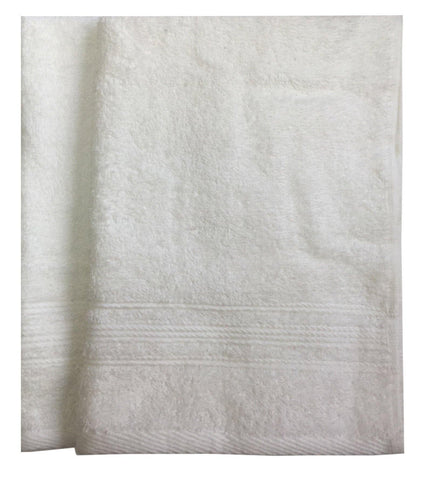 Lushomes Off-White Super Soft and Fluffy Cotton Hand Towel Set (Size: 40 x 60 cms, Pack of 2, 450 GSM) - Lushomes