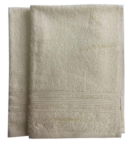 Lushomes Cream Super Soft and Fluffy Cotton Hand Towel Set (Size: 40 x 60 cms, Pack of 2, 450 GSM) - Lushomes