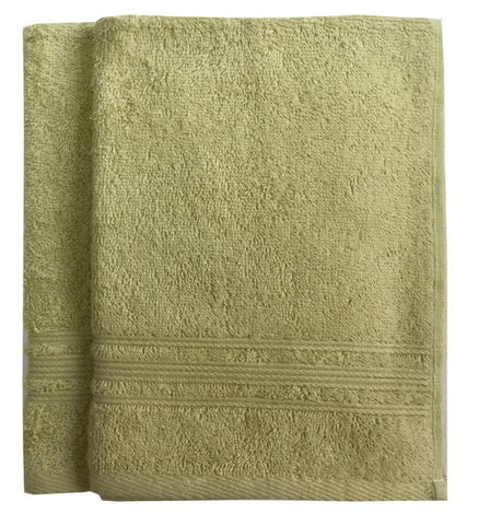 Lushomes Shadow Green Super Soft and Fluffy Cotton Hand Towel Set (Size: 40 x 60 cms, Pack of 2, 450 GSM) - Lushomes
