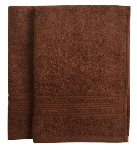 Lushomes Brown Super Soft and Fluffy Cotton Hand Towel Set (Size: 40 x 60 cms, Pack of 2, 450 GSM) - Lushomes