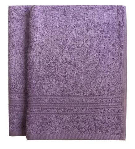 Lushomes Light Purple Super Soft and Fluffy Cotton Hand Towel Set (Size: 40 x 60 cms, Pack of 2, 450 GSM) - Lushomes