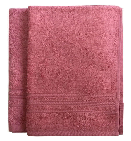 Lushomes Peony Pink Super Soft and Fluffy Cotton Hand Towel Set (Size: 40 x 60 cms, Pack of 2, 450 GSM) - Lushomes