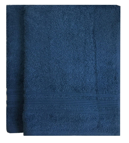 Lushomes Ink Blue Super Soft and Fluffy Cotton Hand Towel Set (Size: 40 x 60 cms, Pack of 2, 450 GSM) - Lushomes