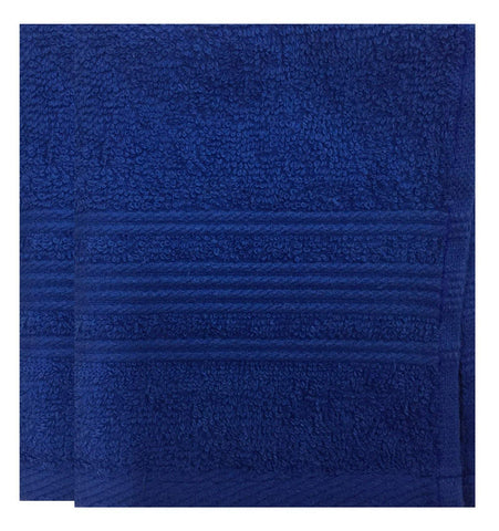 Lushomes Nautical Blue Super Soft and Fluffy Cotton Hand Towel Set (Size: 40 x 60 cms, Pack of 2, 450 GSM) - Lushomes