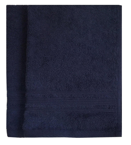Lushomes Navy Blue Super Soft and Fluffy Cotton Hand Towel Set (Size: 40 x 60 cms, Pack of 2, 450 GSM) - Lushomes
