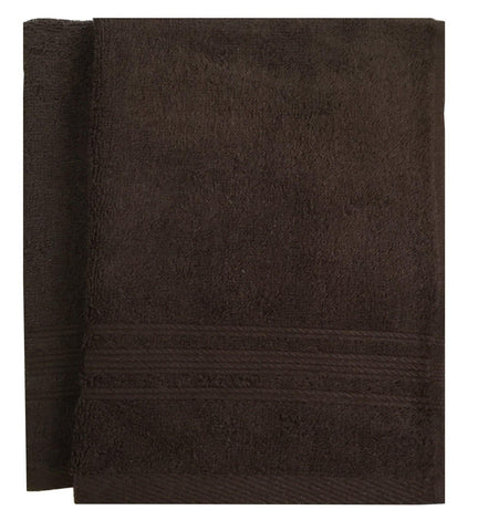 Lushomes Chocolate Brown Super Soft and Fluffy Cotton Hand Towel Set (Size: 40 x 60 cms, Pack of 2, 450 GSM) - Lushomes