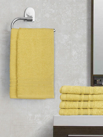 Lushomes Shadow Green Super Soft and Fluffy Cotton Hand Towel Set (Size 40 x 60 cms, Pack of 6, 450 GSM) - Lushomes