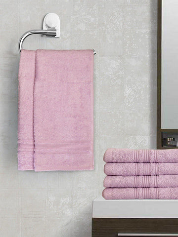 "Lushomes Light Purple Super Soft and Fluffy Cotton Hand Towel Set (Size 40 x 60 cms"", Pack of 6, 450 GSM) - Lushomes"
