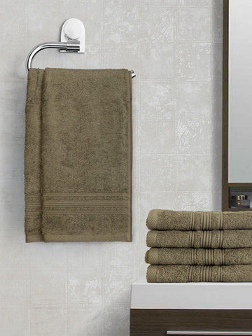 Lushomes Sedona Sage Grey Super Soft and Fluffy Cotton Hand Towel Set (Size 40 x 60 cms, Pack of 6 Pcs, 450 GSM) - Lushomes