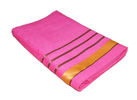 Lushomes 100 % Cotton Dark Pink Royal Touch Soft Turkish Towel (Size 70 x 140 cms, Single Pc) - Lushomes