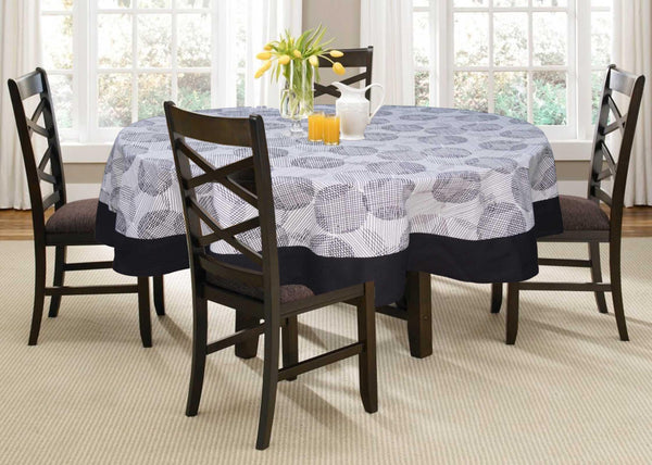 Lushomes 4 Seater Geometric Printed Round Table Cloth - Lushomes