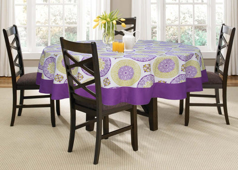 Lushomes 6 Seater Bold Printed Round Table Cloth - Lushomes