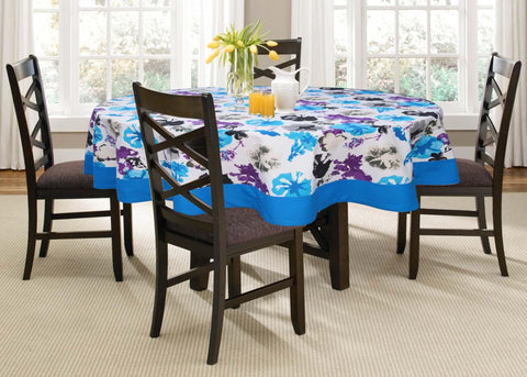 Lushomes 6 Seater Watercolor Printed Round Table Cloth - Lushomes