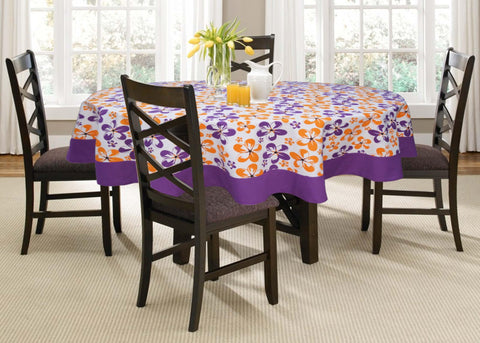 Lushomes 6 Seater Shadow Printed Round Table Cloth - Lushomes