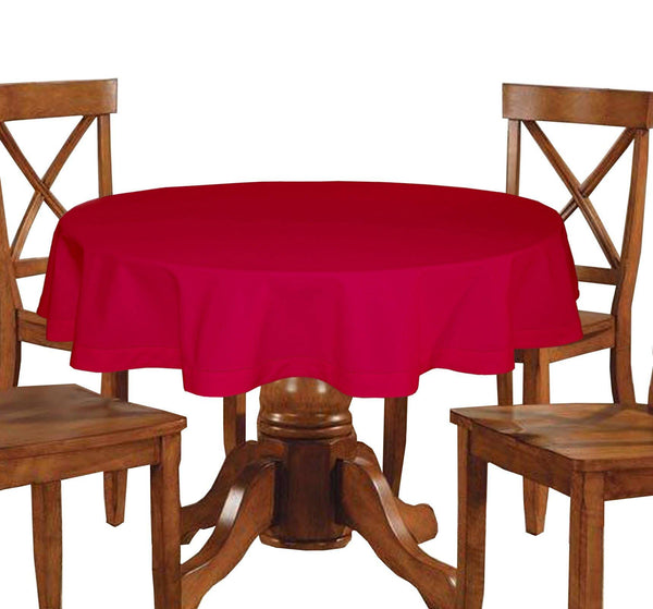 Lushomes Plain Rasberry Round Table Cloth - 4 seater - Lushomes