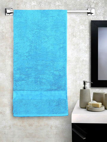 "Lushomes Light Blue Hammam Bath Turkish Economy Cotton Terry Towels GSM 400 GSM (Size 30 x 60"", Single Pc) - Lushomes"
