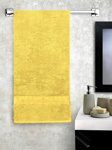 "Lushomes Yellow Hammam Bath Turkish Economy Cotton Terry Towels GSM 400 GSM (Size 30 x 60"", Single Pc) - Lushomes"