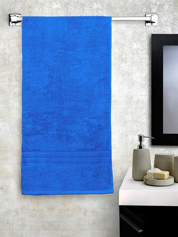 Lushomes Sky Blue Hammam Bath Turkish Cotton Terry Towels GSM 550 GSM (30 x 60 inches) - Lushomes