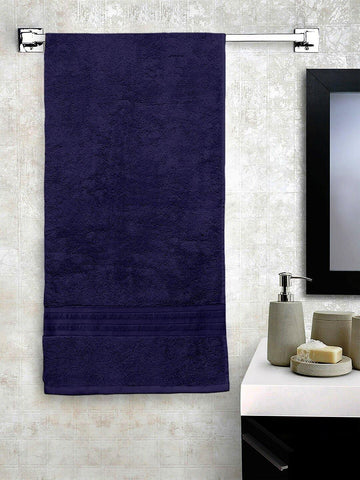 Lushomes Navy Blue Hammam Bath Turkish Cotton Terry Towels GSM 550 GSM (30 x 60 inches) - Lushomes