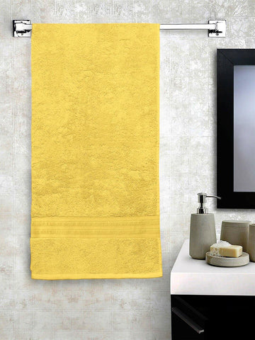 Lushomes Yellow Hammam Bath Turkish Cotton Terry Towels GSM 550 GSM (30 x 60 inches) - Lushomes