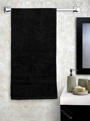 Lushomes Black Hammam Bath Turkish Cotton Terry Towels GSM 550 GSM (30 x 60 inches) - Lushomes