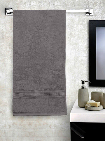 "ushomes Grey Hammam Bath Turkish Economy Cotton Terry Towels GSM 400 GSM (Size 27 x 55"", Single Pc) - Lushomes"