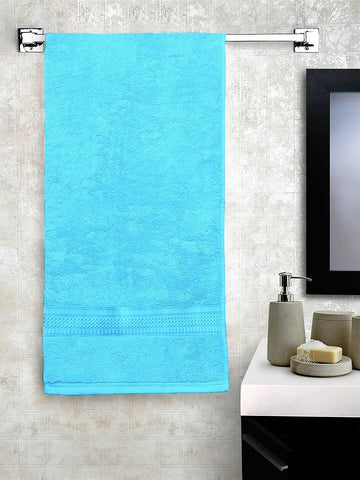 "Lushomes Light Blue Hammam Bath Turkish Economy Cotton Terry Towels GSM 400 GSM (Size 27 x 55"", Single Pc) - Lushomes"