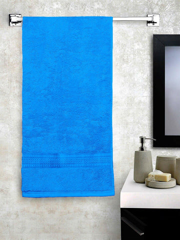 "Lushomes Sky Blue Hammam Bath Turkish Economy Cotton Terry Towels GSM 400 GSM (Size 27 x 55"", Single Pc) - Lushomes"