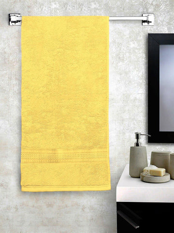 "Lushomes Yellow Hammam Bath Turkish Economy Cotton Terry Towels GSM 400 GSM (Size 27 x 55"", Single Pc) - Lushomes"