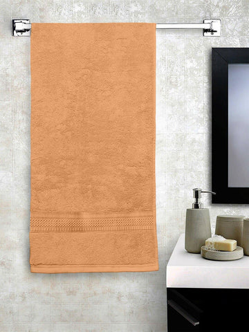 "Lushomes Peach Hammam Bath Turkish Economy Cotton Terry Towels GSM 400 GSM (Size 27 x 55"", Single Pc) - Lushomes"