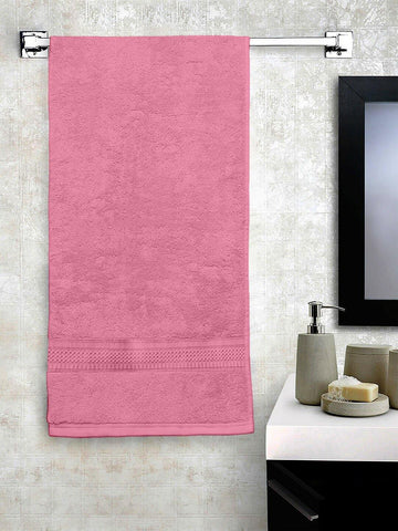 "Lushomes Light Pink Hammam Bath Turkish Economy Cotton Terry Towels GSM 400 GSM (Size 27 x 55"", Single Pc) - Lushomes"
