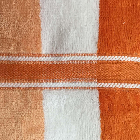 Lushomes Cotton Thick Stripes Orange Hand Towel (Pack of 2 pcs) - Lushomes