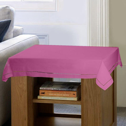 Lushomes Plain Bordeaux Side Table Cloth - Lushomes