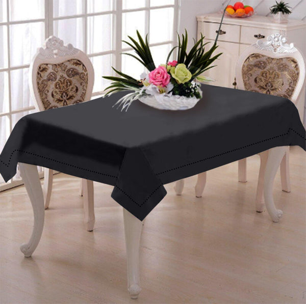 Lushomes Plain Pirate Black Side Table Cloth