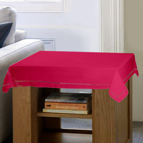 Lushomes Plain Rasberry Side Table Cloth - Lushomes