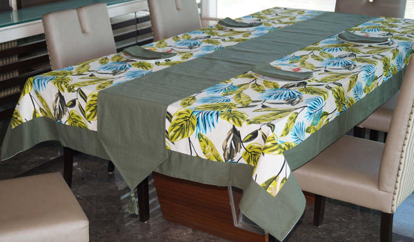 Lushomes Forest Printed 4 Seater Table Linen Set - Lushomes
