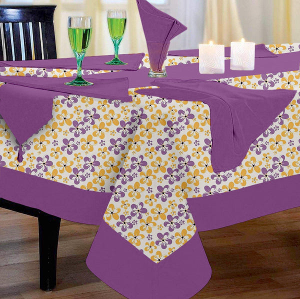 Lushomes Shadow Printed 8 Seater Table Linen Set