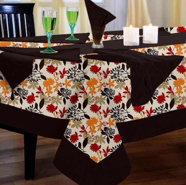 Lushomes Leaf Printed 12 Seater Table Linen Set