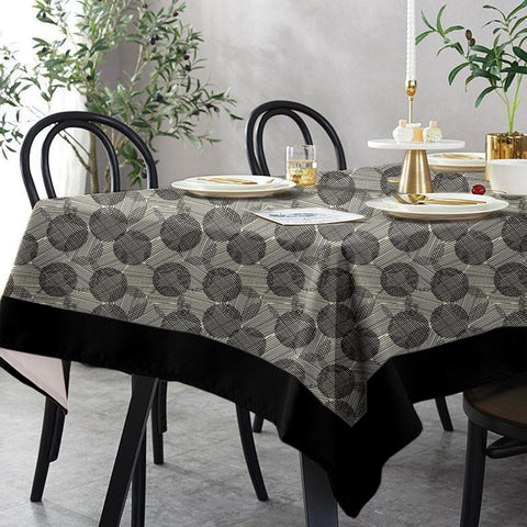 Lushomes 12 Seater Geometric Printed Table Cloth