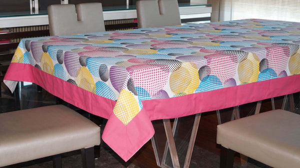 Lushomes 4 Seater Circles Printed Table Cloth - Lushomes