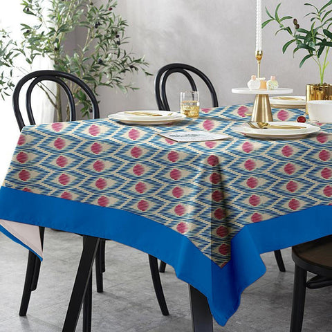 Lushomes 6 Seater Regular Diomond Printed Table Cloth
