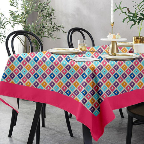 Lushomes 6 Seater Regular Square Printed Table Cloth