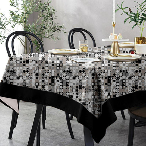 Lushomes 6 Seater Regular Coins Printed Table Cloth