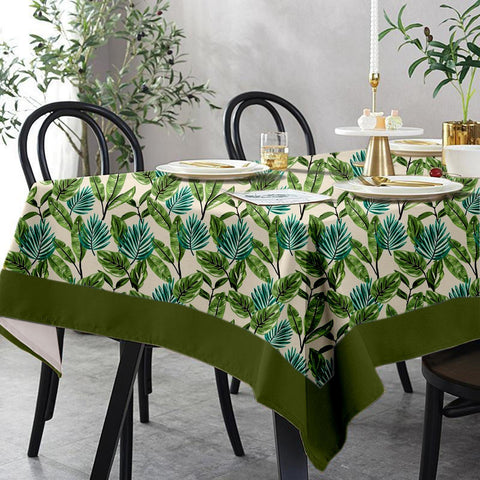 Lushomes 6 Seater Regular Forest Printed Table Cloth