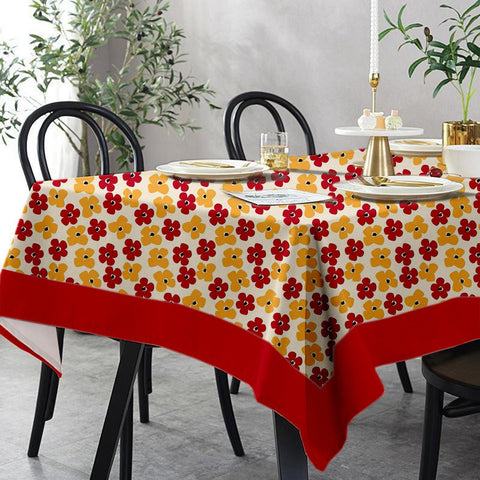 Lushomes 6 Seater Regular Basic Printed Table Cloth