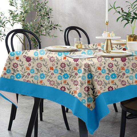 Lushomes 6 Seater Small Flower Printed Table Cloth