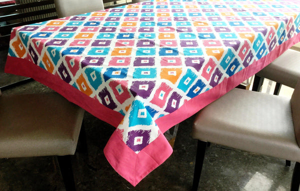 Lushomes 6 Seater Small Square Printed Table Cloth - Lushomes