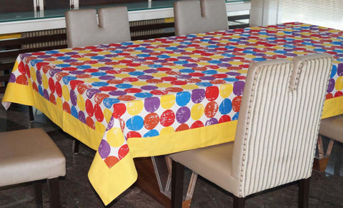 Lushomes 6 Seater Small Titac Printed Table Cloth - Lushomes