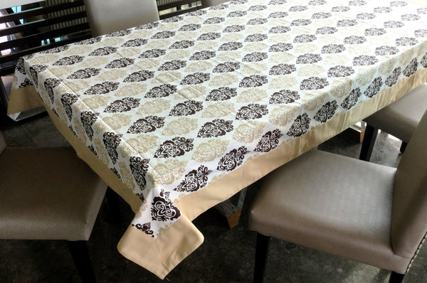 Lushomes 6 Seater Small Earth Printed Table Cloth - Lushomes
